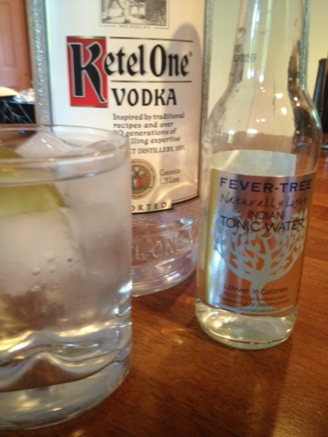 Dirt Girl Makes V&T with Fever Tree Tonic